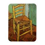 Van Gogh; La silla de Vincent con el tubo, arte de Iman Flexible