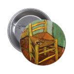 Van Gogh; La silla de Vincent con el tubo, arte de Pins