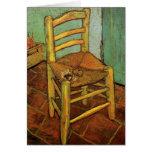 Van Gogh; La silla de Vincent con el tubo, arte de Felicitacion