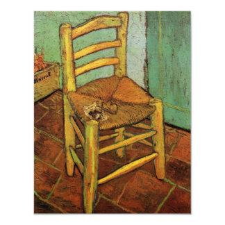 """Van Gogh; La silla de Vincent con el tubo, arte Invitación 4.25"""" X 5.5"""""""