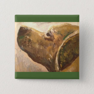 Van Gogh Lab Dog Painting Pinback Button