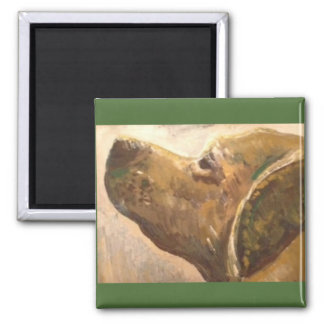 Van Gogh Lab Painting 2 Inch Square Magnet