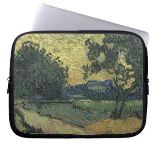 Van Gogh Landscape at Twilight 1890 Computer Sleeve