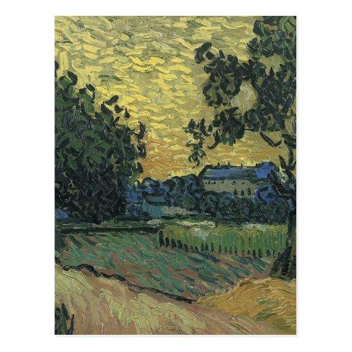 Van Gogh Landscape at Twilight 1890 Postcard