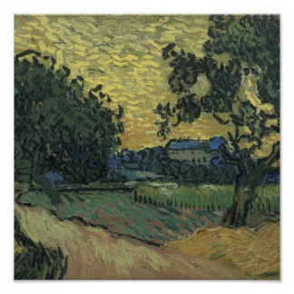 Van Gogh Landscape at Twilight 1890 Print
