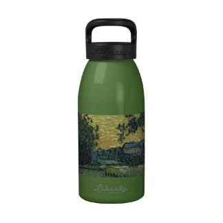 Van Gogh Landscape at Twilight 1890 Water Bottles