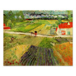 Van Gogh Landscape, Carriage and Train (F760) Poster
