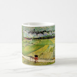 Van Gogh Landscape Carriage and Train, Fine Art Coffee Mug