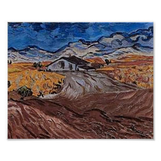 Van Gogh Landscape Near Saint-Rémy Print