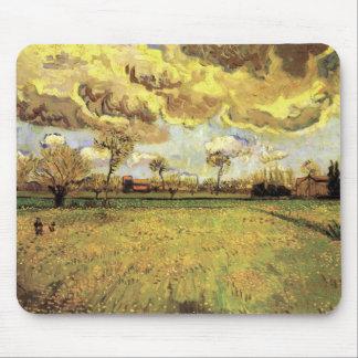 Van Gogh Landscape Under Stormy Sky, Fine Art Mouse Pad