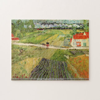 van Gogh-Landscape with Carriage and Train Puzzle