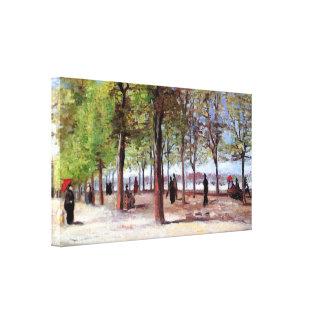 Van Gogh - Lane At The Jardin Du Luxembourg Canvas Print