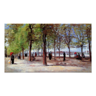 Van Gogh - Lane At The Jardin Du Luxembourg Poster