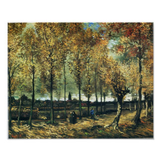 Van Gogh - Lane with poplars near Nuenen Poster