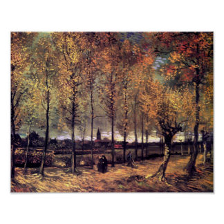 Van Gogh - Lane With Poplars Posters