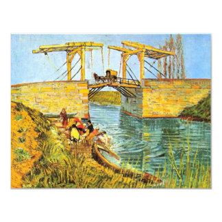 Van Gogh Langlois Bridge at Arles w Women Washing Card