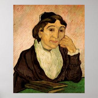 Van Gogh; L'Arlesienne (Madame Ginoux) Portrait Poster