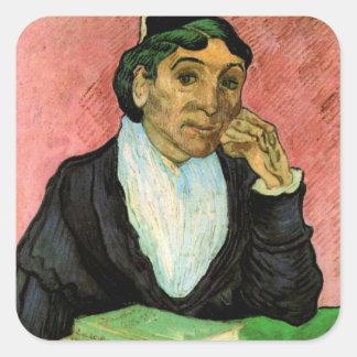 Van Gogh, L'Arlesienne (Madame Ginoux) Square Sticker