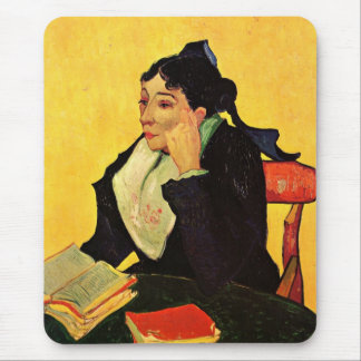Van Gogh, L'Arlesienne: Madame Ginoux with Books Mouse Pad