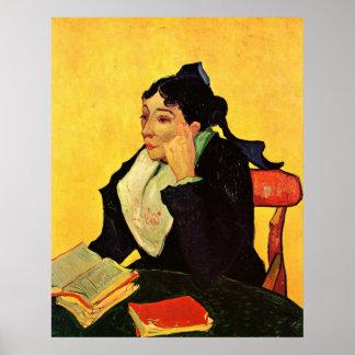 Van Gogh, L'Arlesienne: Madame Ginoux with Books Poster