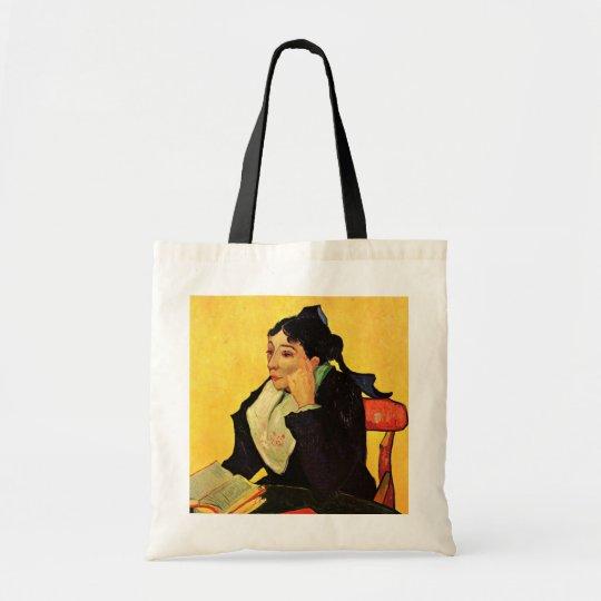 Van Gogh, L'Arlesienne: Madame Ginoux with Books Tote Bag