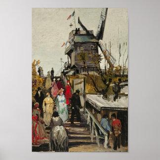 Van Gogh Le Moulin de Blute-Fin Posters