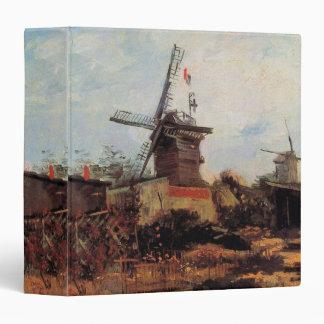 Van Gogh Le Moulin de Blute Fin, Vintage Windmill Binder