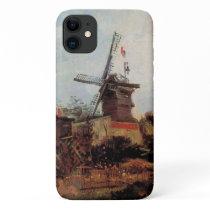 Van Gogh Le Moulin de Blute Fin, Vintage Windmill iPhone 11 Case