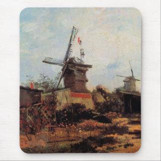 Van Gogh Le Moulin de Blute Fin, Vintage Windmill Mouse Pad