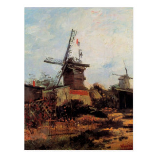 Van Gogh Le Moulin de Blute Fin, Vintage Windmill Postcard