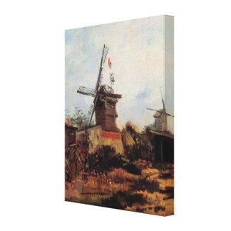 Van Gogh; Le Moulin de Blute Fin (Windmill) Gallery Wrap Canvas