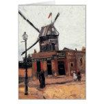 Van Gogh Le Moulin de la Galette, Vintage Windmill Card