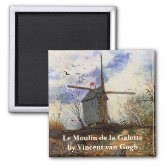 Van Gogh Le Moulin de la Galette, Vintage Windmill Magnet