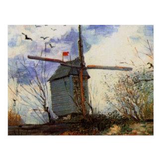 Van Gogh Le Moulin de la Galette, Vintage Windmill Postcard