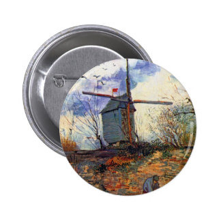 Van Gogh - Le Moulin De La Galette Windmill Button