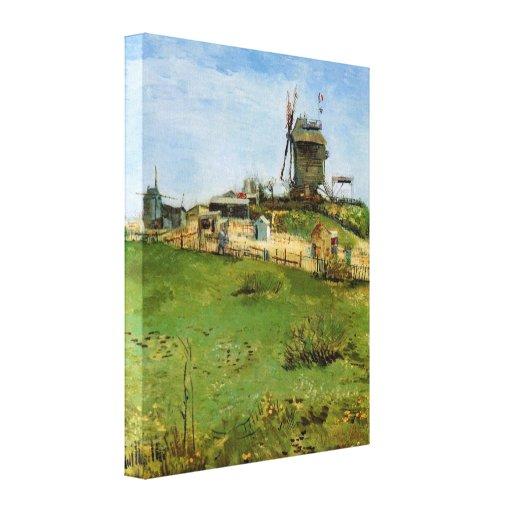 Van Gogh; Le Moulin de la Galette (Windmill) Canvas Print