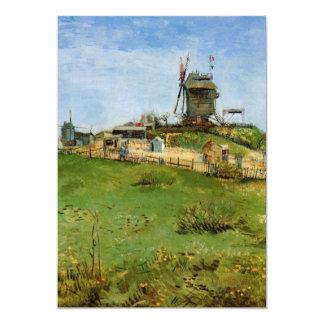 Van Gogh; Le Moulin de la Galette (Windmill) Personalized Invite