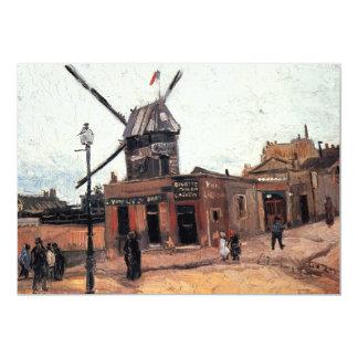 Van Gogh; Le Moulin de la Galette (Windmill) Personalized Invites