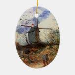 Van Gogh; Le Moulin de la Galette (Windmill) Christmas Ornaments