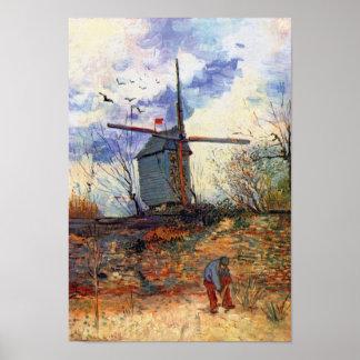 Van Gogh - Le Moulin De La Galette Windmill Poster