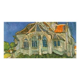 VAN GOGH - L'EGLISE D'AUVERS-SUR-OISE PHOTO CARD TEMPLATE