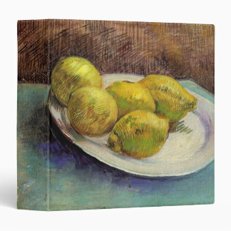 Van Gogh Lemons on a Plate, Vintage Still Life Art Binder