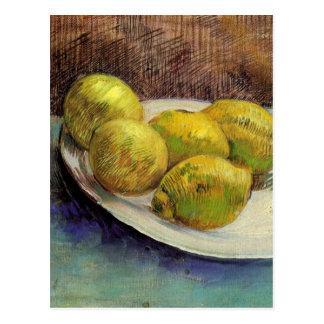 Van Gogh Lemons on a Plate, Vintage Still Life Art Postcard