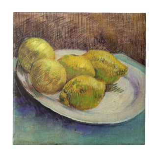 Van Gogh Lemons on a Plate, Vintage Still Life Art Tile