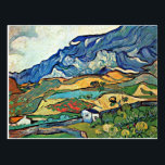 """Van Gogh - Les Alpilles Mountain Landscape Postcard<br><div class=""""desc"""">Vincent van Gogh painting,  Les Alpilles Mountain Landscape,  postcard.</div>"""
