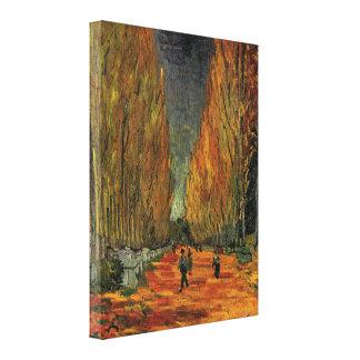 Van Gogh Les Alyscamps cementerio arte del vin Lona Envuelta Para Galerías