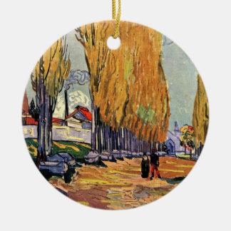 Van Gogh; Les Alyscamps (Cemetery), Vintage Art Ceramic Ornament