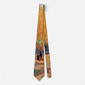 Van Gogh; Les Alyscamps (Cemetery), Vintage Art Neck Tie