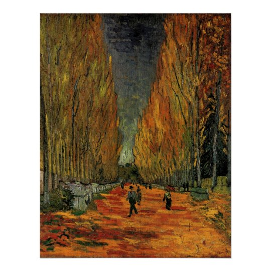 Van Gogh; Les Alyscamps (Cemetery), Vintage Art Poster