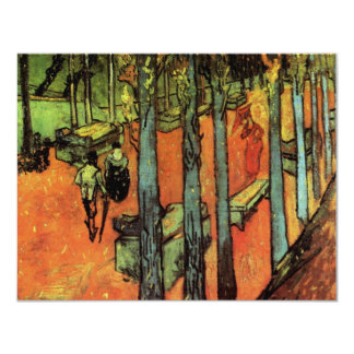 Van Gogh; Les Alyscamps: Falling Autumn Leaves Card